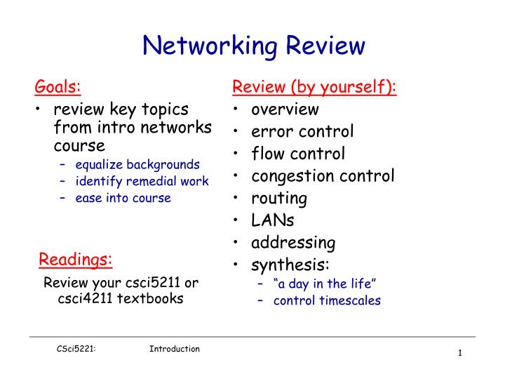 Networking review