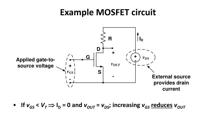 Example MOSFET circuit