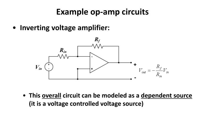 Example op-amp circuits