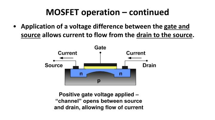 MOSFET operation – continued