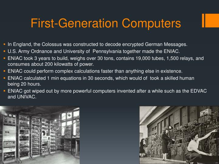 First-Generation Computers