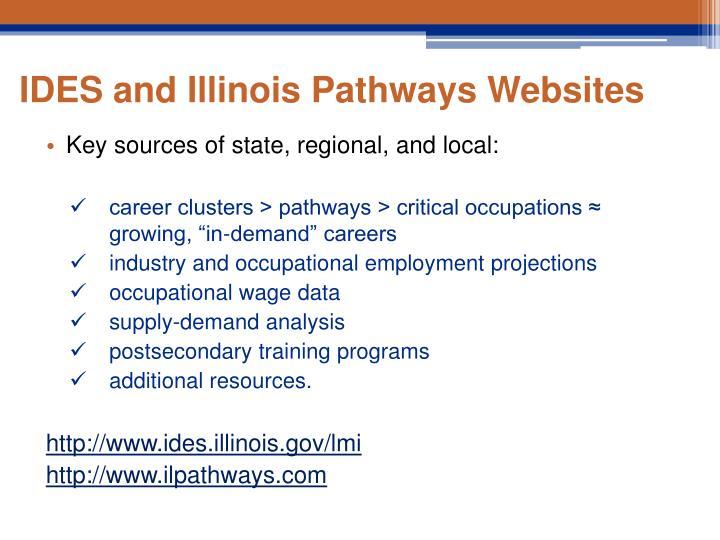 IDES and Illinois Pathways Websites