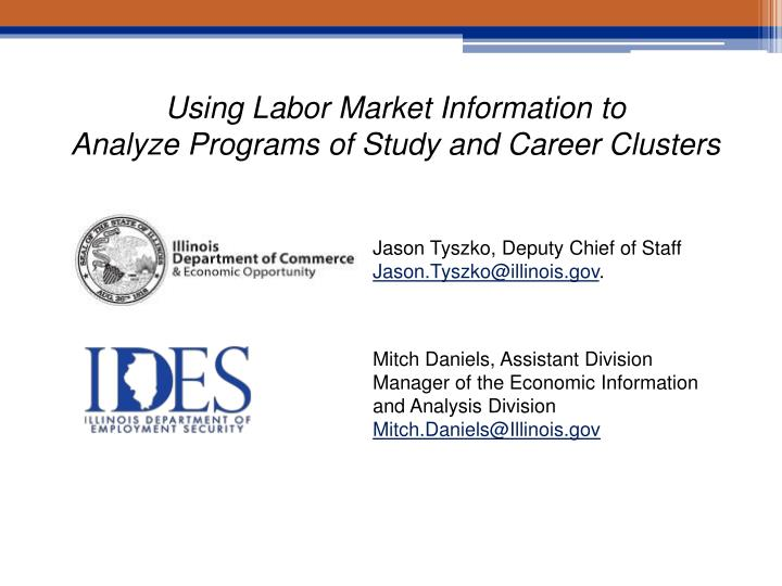 Using Labor Market Information to