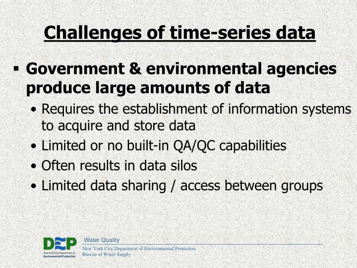 Challenges of time-series data