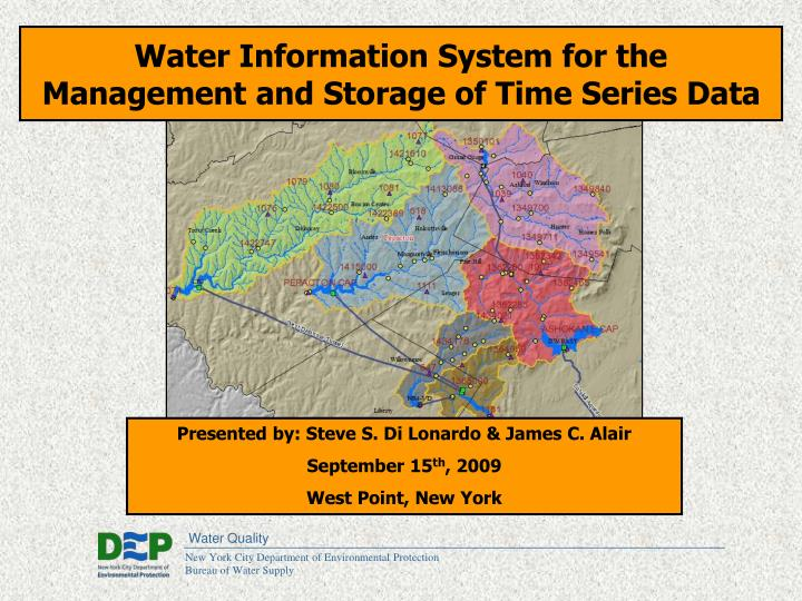 Water Information System for the Management and Storage of Time Series Data