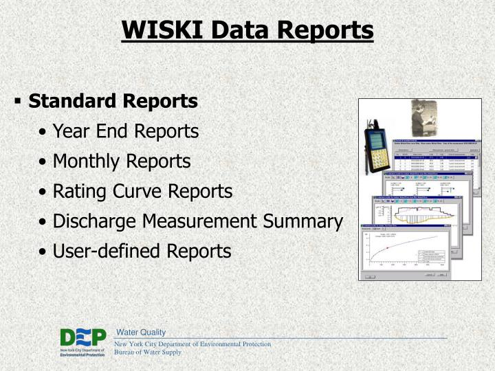 WISKI Data Reports