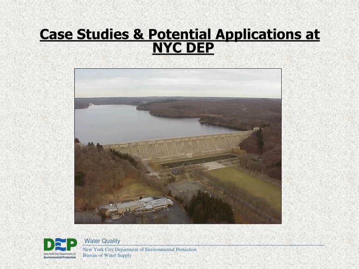 Case Studies & Potential Applications at NYC DEP