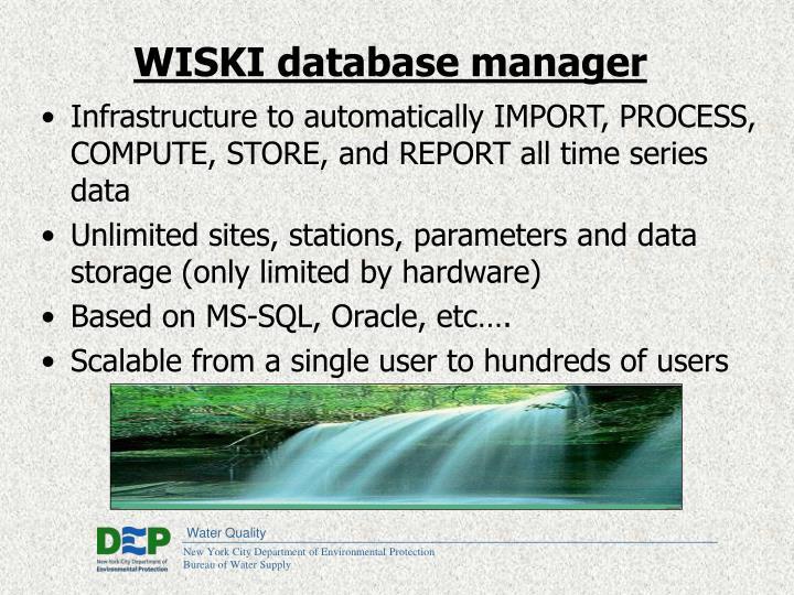 WISKI database manager