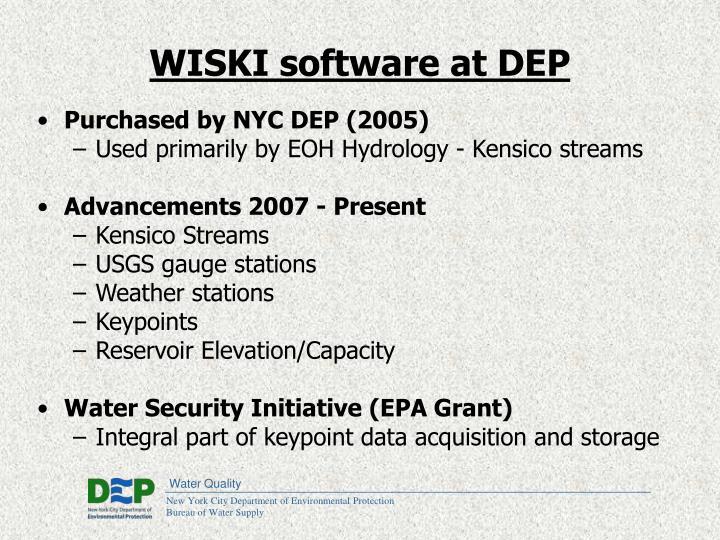 WISKI software at DEP