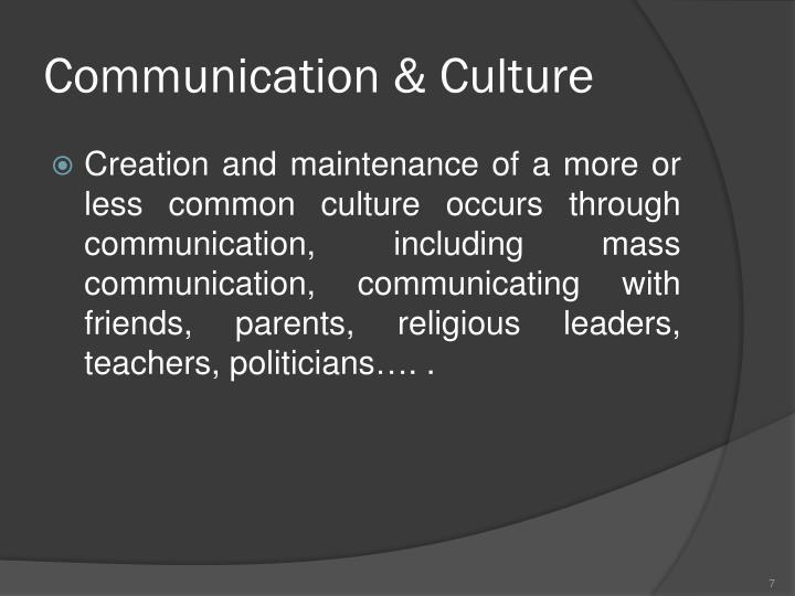 Communication & Culture