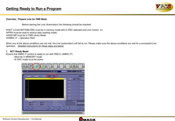 Getting Ready to Run a Program