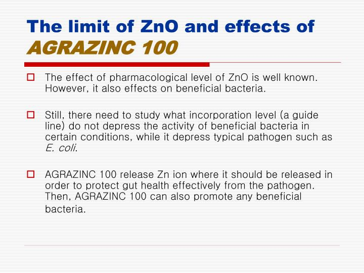 The limit of ZnO and effects of