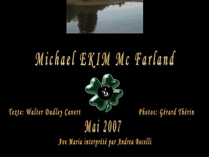Michael EKIM Mc Farland