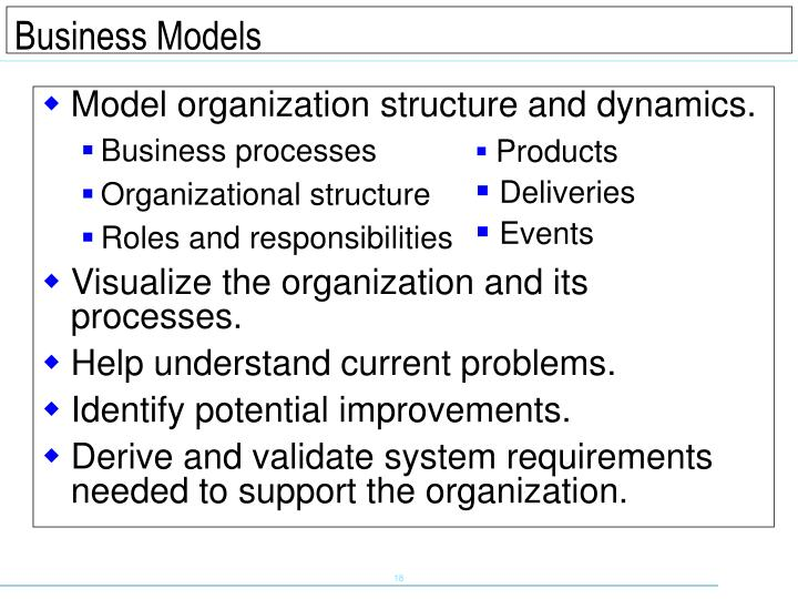Model organization structure and dynamics.