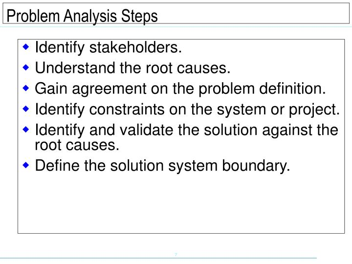 Identify stakeholders.