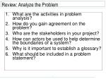review analyze the problem