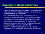 anaphoric demonstratives