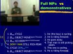 full nps vs demonstratives