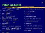 pitch accents