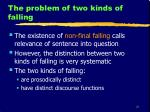 the problem of two kinds of falling