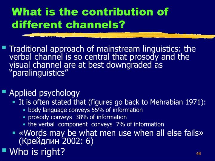 What is the contribution of different channels?