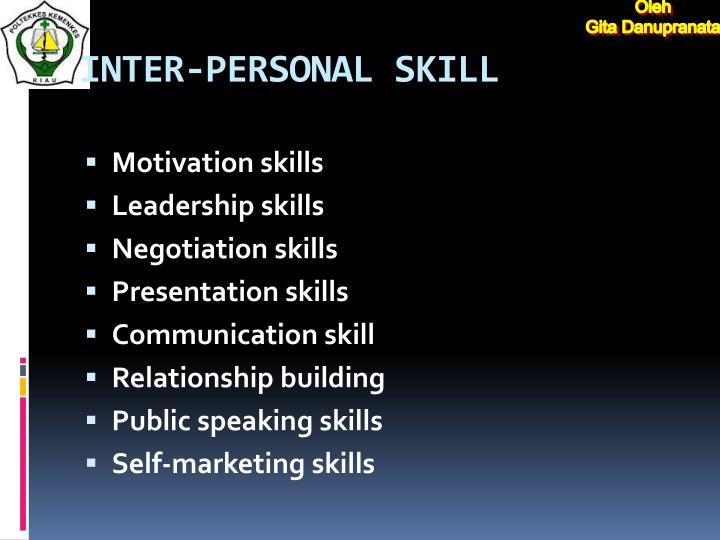 INTER-PERSONAL SKILL