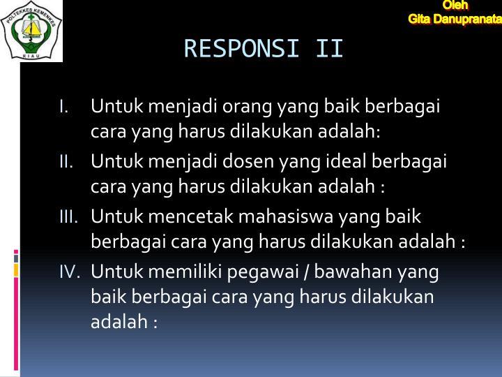 RESPONSI II