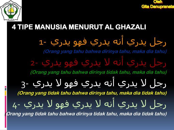 4 TIPE MANUSIA MENURUT AL GHAZALI