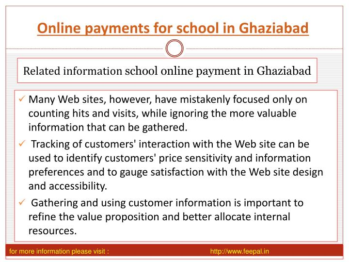 Online payments for school in Ghaziabad