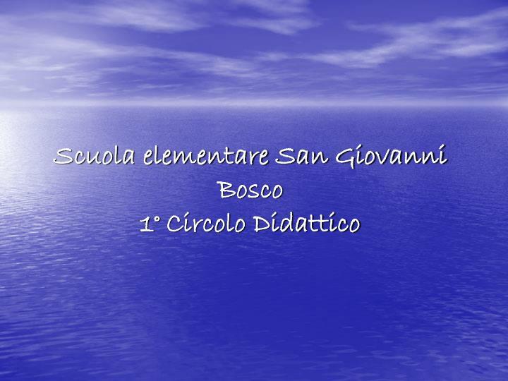 Scuola elementare San Giovanni Bosco