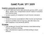 game plan sfy 2009