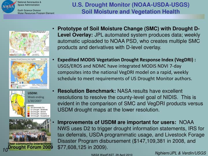 U.S. Drought Monitor (NOAA-USDA-USGS)