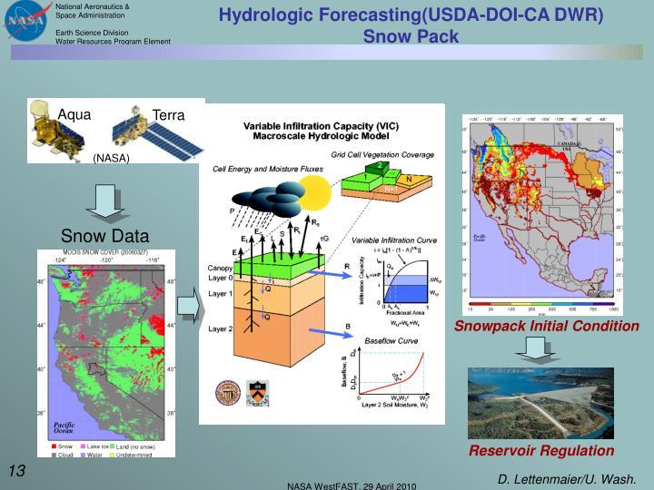 Hydrologic Forecasting(USDA-DOI-CA DWR)