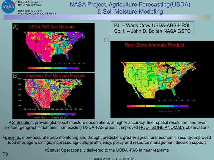 NASA Project, Agriculture Forecasting(USDA)
