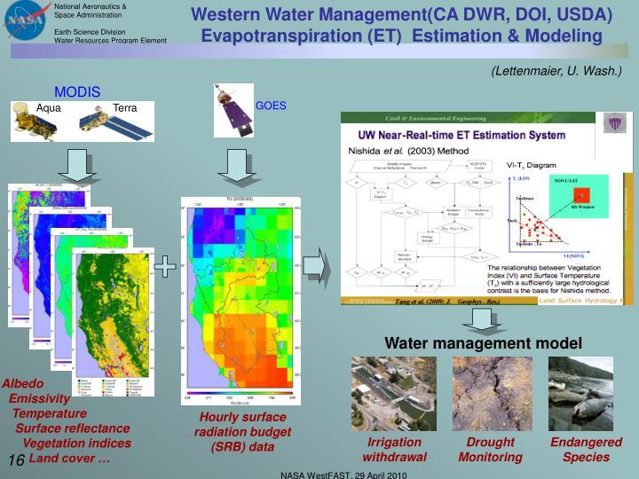 Western Water Management(CA DWR, DOI, USDA)