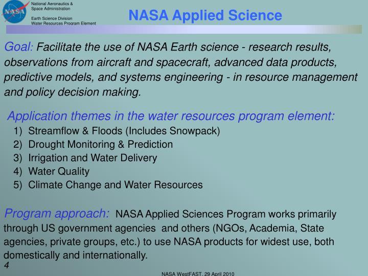 NASA Applied Science