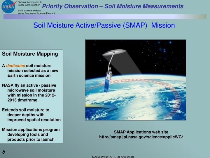 Priority Observation – Soil Moisture Measurements