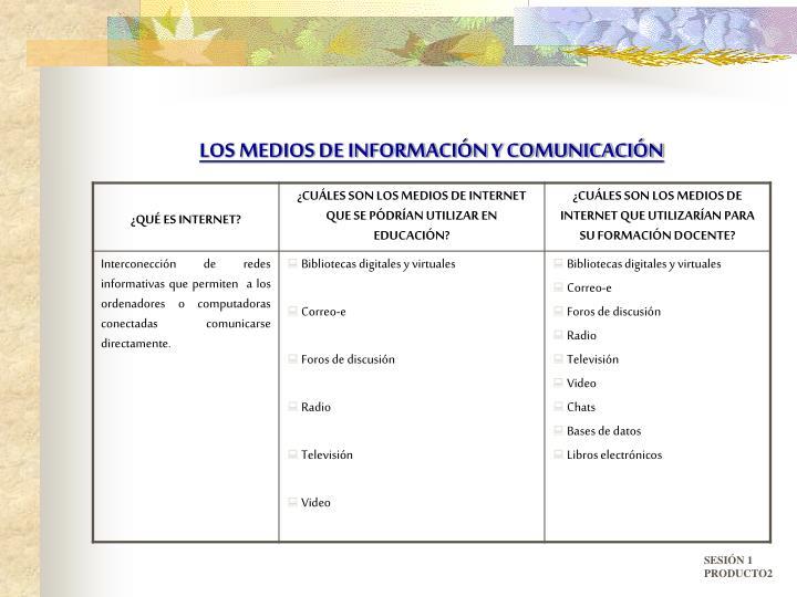 LOS MEDIOS DE INFORMACIÓN Y COMUNICACIÓN