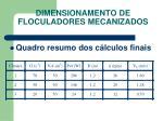 dimensionamento de floculadores mecanizados8