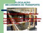 flocula o mecanismos de transporte1