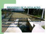 processo de flocula o