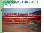sedimenta o floculenta tipo ii