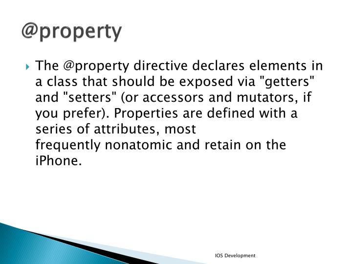 @property