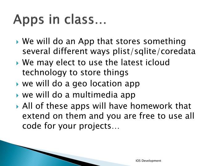 Apps in class…