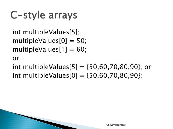 C-style arrays