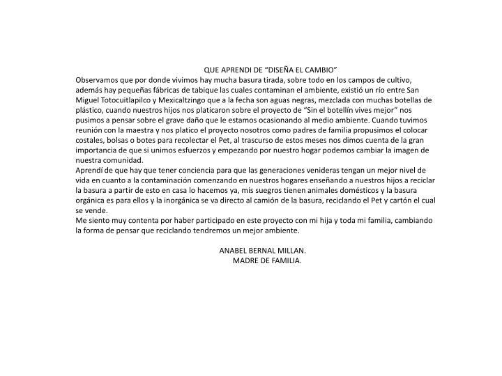 """QUE APRENDI DE """"DISEÑA EL CAMBIO"""""""
