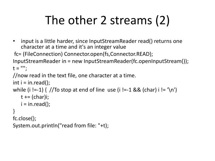 The other 2 streams (2)