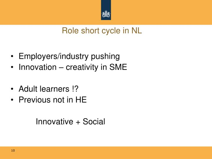 Role short cycle in NL