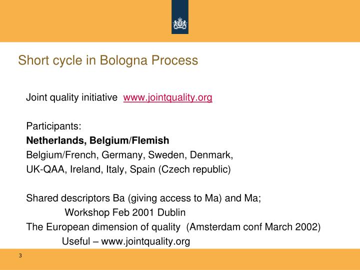 Short cycle in bologna process1