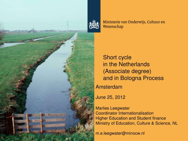 Short cycle in the netherlands associate degree and in bologna process